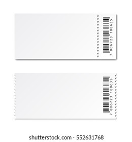 blank white paper ticket vector