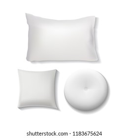 Blank White Pillow Set / Cushion Illustration Vector