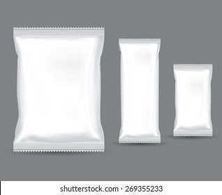 blank white product packaging