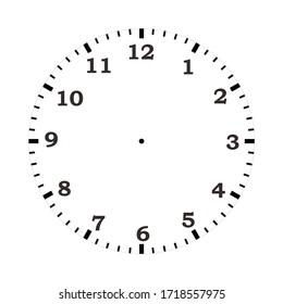 Blank white round clock face mockup.
