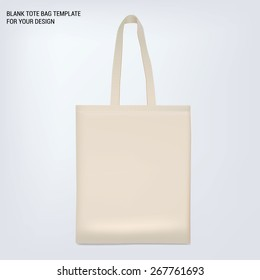blank white tote bag. Template for your design