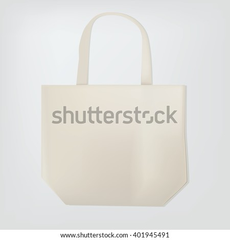 Blank white tote bag template your stock vector royalty free blank white tote bag template for your design maxwellsz