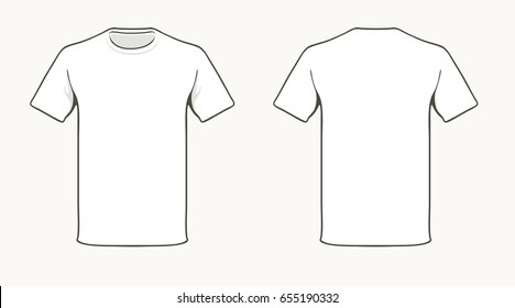 Blank white T-shirt template.