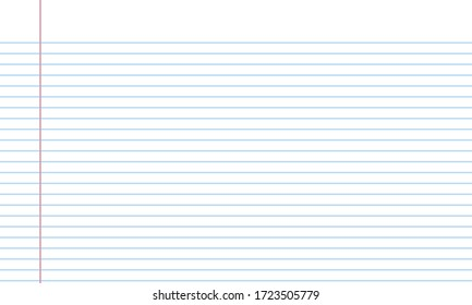 Blank white worksheet exercise book and back to school vector design.