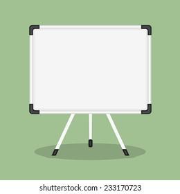 Blank whiteboard, flat design, vector eps10 illustration