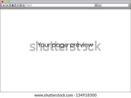 Blank Window Internet Browser Template Illustration Image