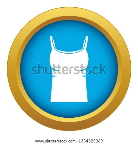 24ef482b2e9a9 Blank women tank top icon blue vector isolated on white background for any  design