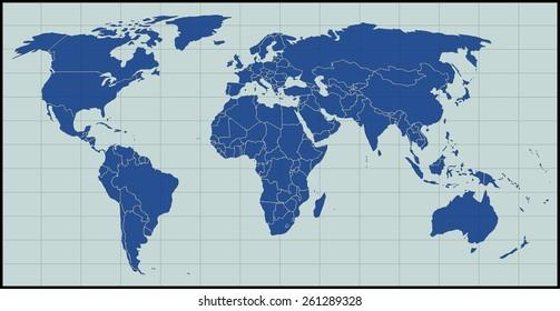 Blank World Map