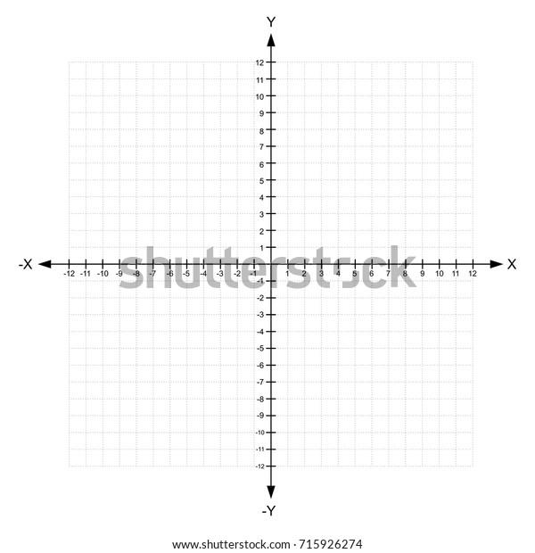 Blank X Y Axis Cartesian Coordinate 库存矢量图(免版税)715926274