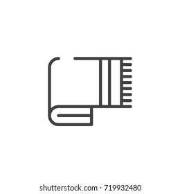 Blanket line icon, outline vector sign, linear style pictogram isolated on white. Symbol, logo illustration. Editable stroke