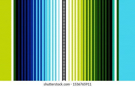 Blanket stripes seamless vector pattern. Background for Cinco de Mayo party decor or ethnic mexican fabric pattern with colorful stripes. Serape design.
