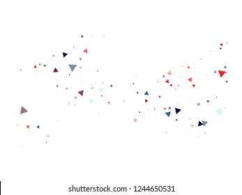 Blast, Burst, Moved Particles, Vector Explosion Background. Broken Glass Moving Memphis Grunge Fragmentation. Stars, Glitter, Trendy Cosmic Frame, Vortex, Shattered Fragments. Funky Cool Memphis.