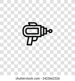 blaster icon from  collection for mobile concept and web apps icon. Transparent outline, thin line blaster icon for website design and mobile, app development