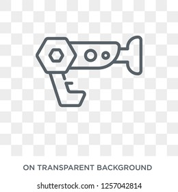 Blaster icon. Blaster design concept from  collection. Simple element vector illustration on transparent background.