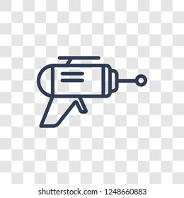 Blaster icon. Trendy linear Blaster logo concept on transparent background from Science collection