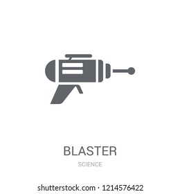 Blaster icon. Trendy Blaster logo concept on white background from Science collection. Suitable for use on web apps, mobile apps and print media.