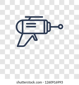 Blaster icon. Trendy Blaster logo concept on transparent background from Science collection