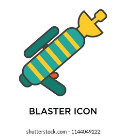 Blaster icon vector isolated on white background for your web and mobile app design, Blaster logo concept