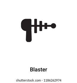 Blaster icon vector isolated on white background, logo concept of Blaster sign on transparent background, filled black symbol