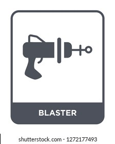 blaster icon vector on white background, blaster trendy filled icons from Future technology collection, blaster simple element illustration
