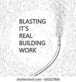 Blasting building work
