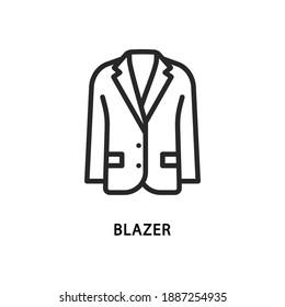 Blazer flat line icon. Vector illustration men clothes