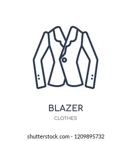 Blazer icon. Blazer linear symbol design from Clothes collection. Simple outline element vector illustration on white background.