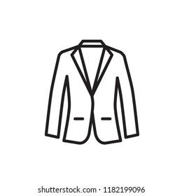 blazer icon vector design line style