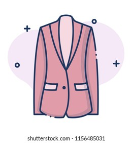 Blazer vector illustration in line color design