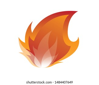 Blazing Fire Sign or Symbol