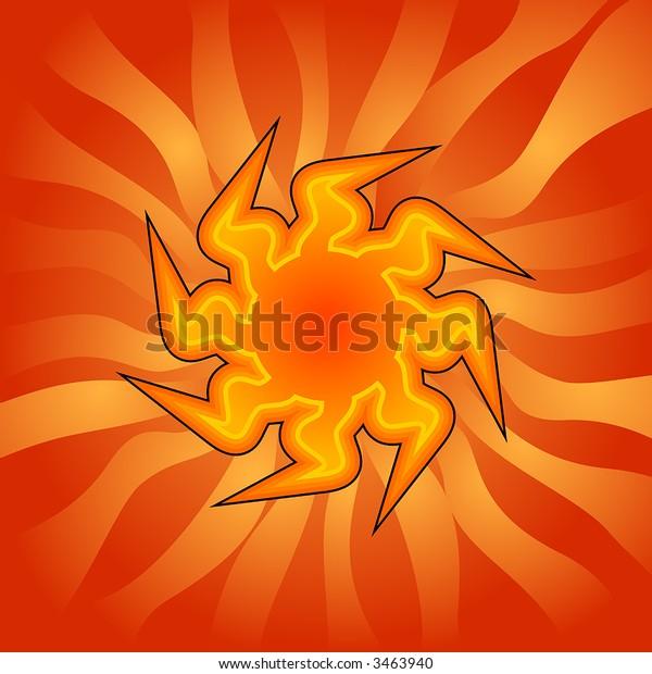 Blazing Hot Clip Art