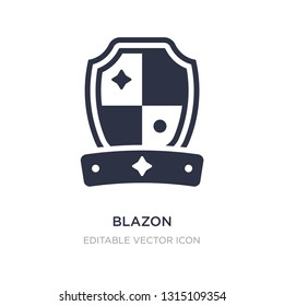 blazon icon on white background. Simple element illustration from Other concept. blazon icon symbol design.