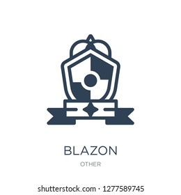 blazon icon vector on white background, blazon trendy filled icons from Other collection, blazon vector illustration