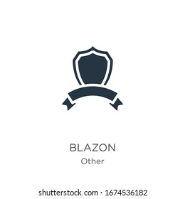 Blazon icon vector. Trendy flat blazon icon from other collection isolated on white background. Vector illustration can be used for web and mobile graphic design, logo, eps10
