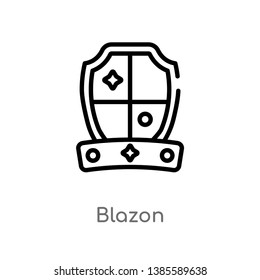 blazon vector line icon. Simple element illustration. blazon outline icon from other concept. Can be used for web and mobile