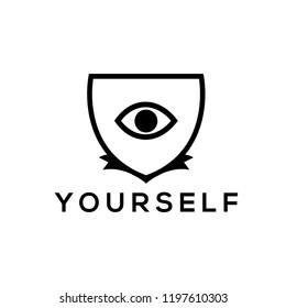 Blazon vector.Eye vector logo design element