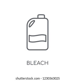 Bleach linear icon. Modern outline Bleach logo concept on white background from Hygiene collection. Suitable for use on web apps, mobile apps and print media.