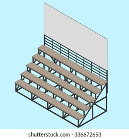 Bleacher illustration vector