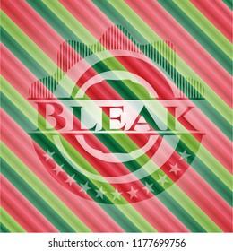 Bleak christmas colors emblem.