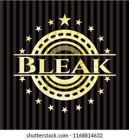 Bleak golden badge or emblem