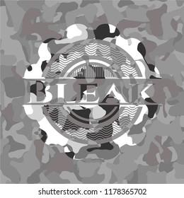 Bleak on grey camouflaged texture