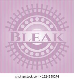 Bleak pink emblem. Vintage.