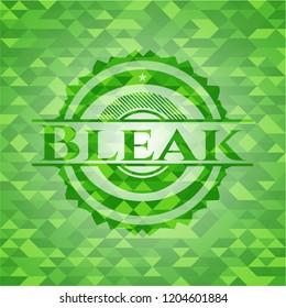 Bleak realistic green mosaic emblem