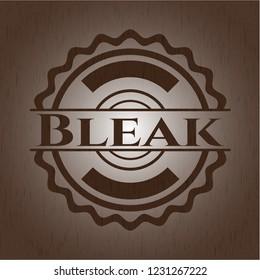 Bleak retro style wooden emblem
