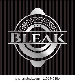 Bleak silver shiny badge