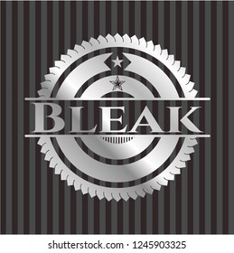 Bleak silvery shiny badge