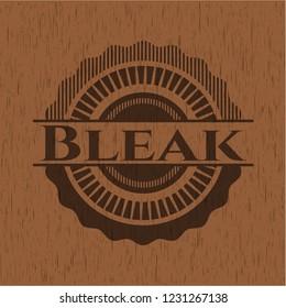 Bleak vintage wood emblem