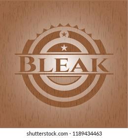 Bleak wooden emblem. Retro