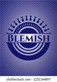Blemish emblem with jean background