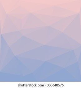 Blend of colors rose quartz and serenity in triangular style